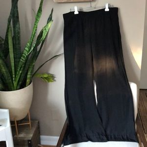 CAbi wide leg black pants